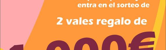 ACEAS sorteará 2 vales de compra por valor de 1.000€ cada uno entre los clientes de sus establecimientos asociados